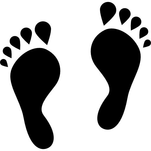Human Footprints Shape Icons Free Download