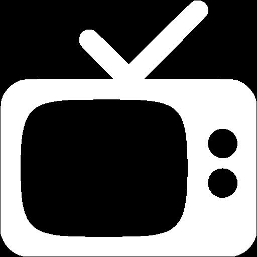 White Tv Icon