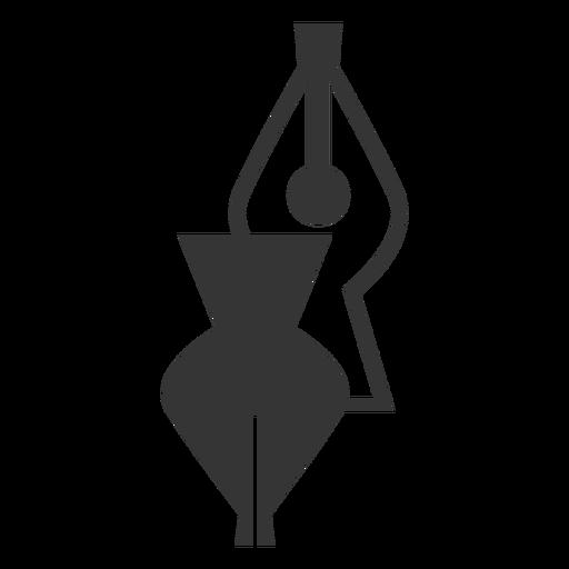 Black And White Fountain Pen Tip Icon