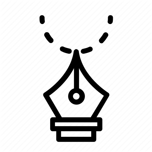 Fountain, Icon, Pen, Vector Icon