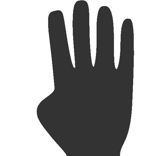 Fingers, Four Icon