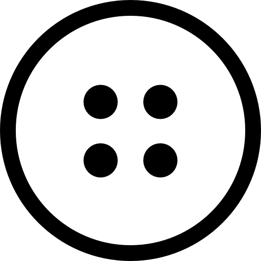 Circular Button With Four Dots Of Holes