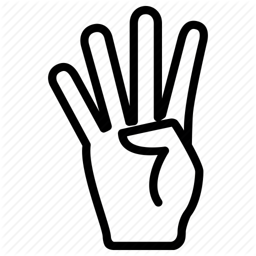 Communication, Fingers, Four, Gesture, Hand Icon