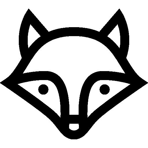 Black, Animal, Fox Icon