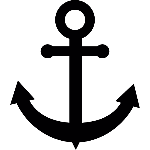 Anchor Black Shape Icons Free Download