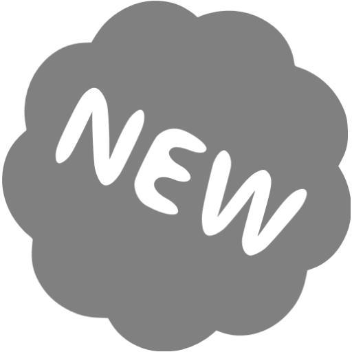 Gray New Badge Icon