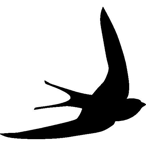 Swift Bird Shape Icons Free Download