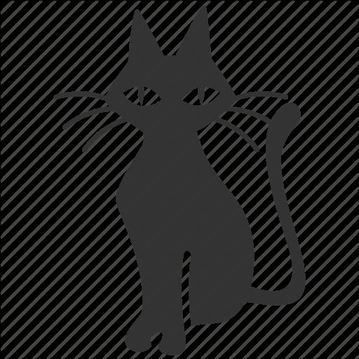 Animal, Bad Luck, Black Cat, Cat, Halloween, Kitty, Pet Icon