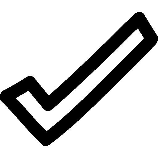 Checkmark Hand Drawn Outline