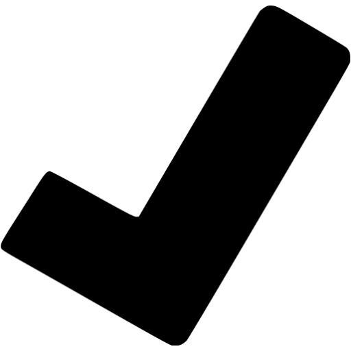Black Check Mark Icon