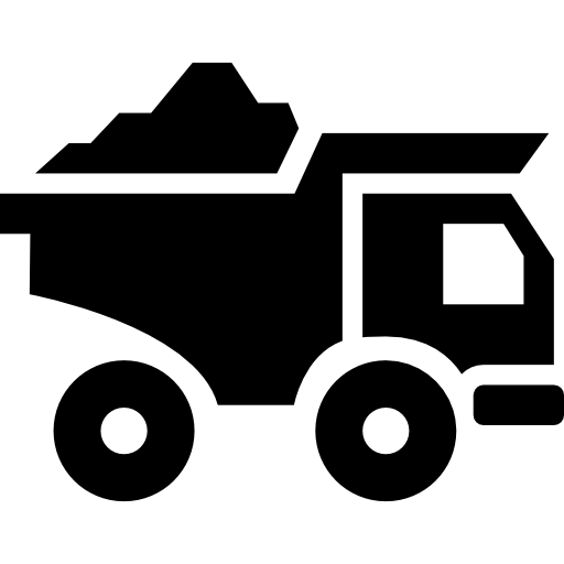 Truck Transport With Construction Materials Icons Free Download