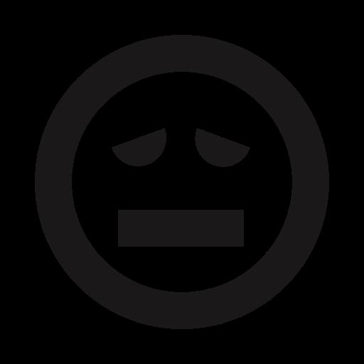 Emoji, Emojis, Emoticon, Ill, Queasy, Sick, Thick Lines Icon
