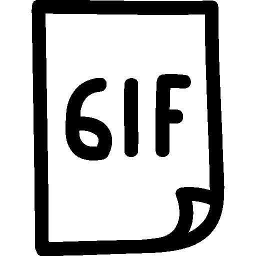 Gif Image Hand Drawn Outline