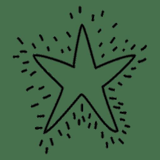 Star Hand Drawn Stroke Icon