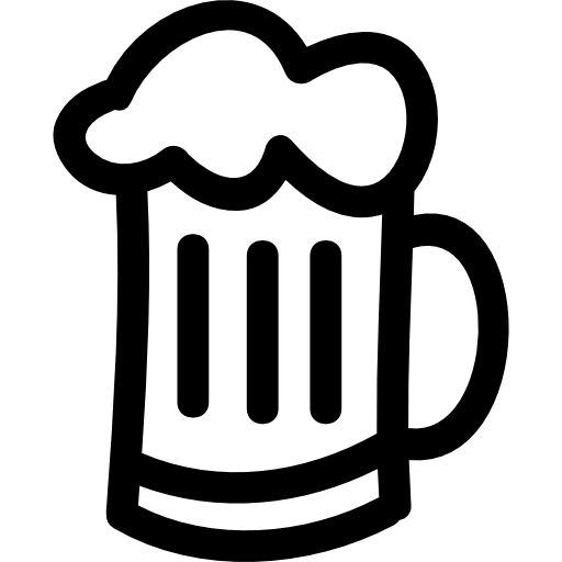 Beer Jar Hand Drawn Outline
