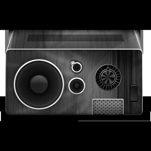 Grey Music Box Icon