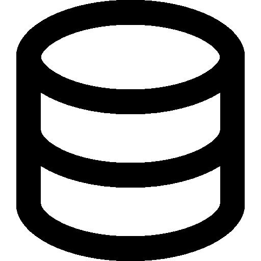 Database Or Cake Outline
