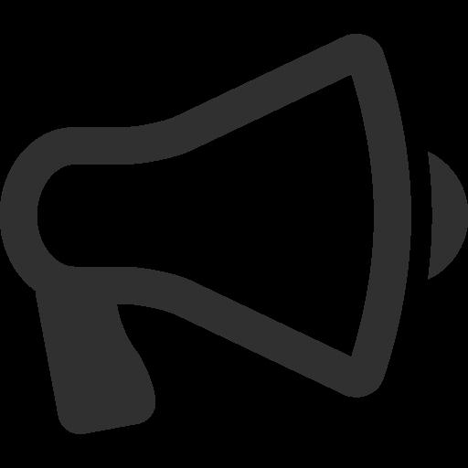 Megaphone Icon Mono Business Iconset Custom Icon Design