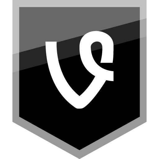 Vine Free Silver Shield Icon Alfredocreates