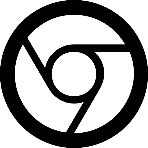 Latest Google Chrome Logo Filled With White Colour Free Logo