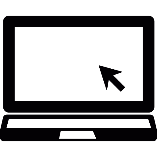 Laptop With Mouse Cursor Png Icon