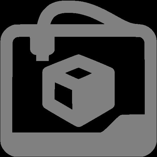 Gray Printer Icon