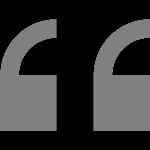 Gray Double Quote Serif Left Icon