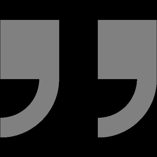 Gray Double Quote Serif Right Icon