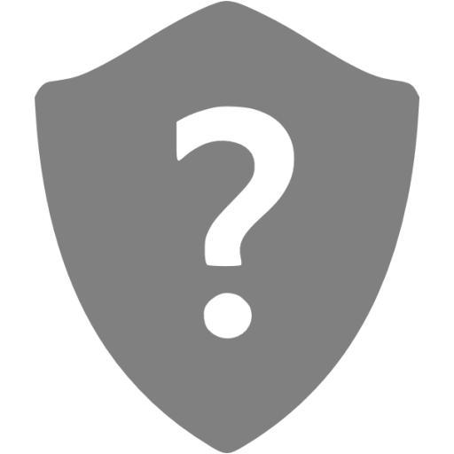 Gray Question Shield Icon