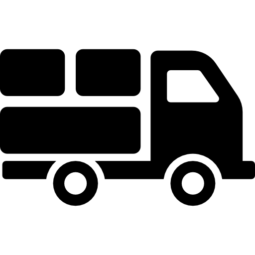 Delivery Truck With Packages Behind Icons Free Download