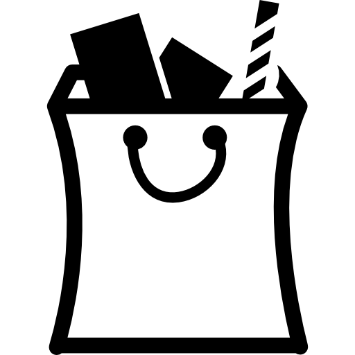 Full Items Inside A Shopping Bag Icons Free Download