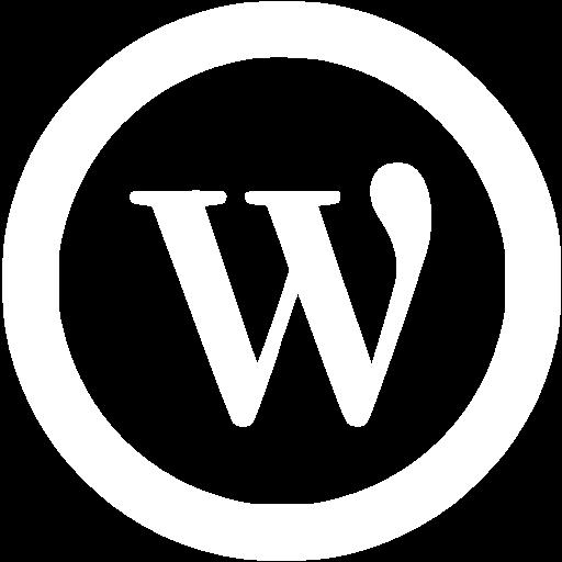 White Wordpress Icon