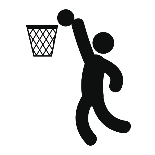 Basketball Player Scoring Free Vector Icons Designed