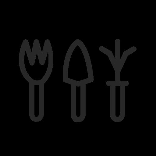 Set, Of, Garden, Tools Icon Free Of Gardening Tools Icons