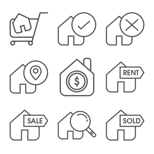 Real Estate Icon Set Free Vector Icon Packs Free Vector Icons
