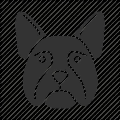 Breed, Bulldog, Dog, French, Frenchie, Pet, Puppy Icon