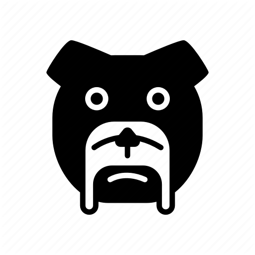 Bulldog, Cartoon, Dog, French, Halloween, Pumpkin, Sticker Icon