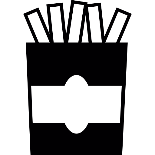 French Fries Inside A Container Icons Free Download