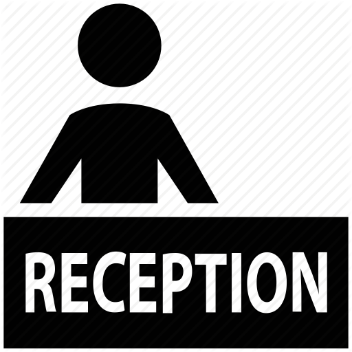 Front Desk, Hotel Reception, Manager, Reception Icon