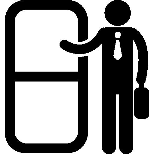 Knocking Door Office Worker