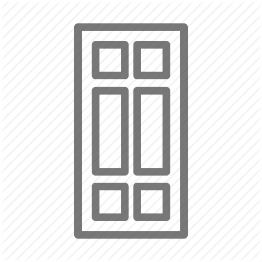 Door, Front, Home, House, Panel Icon