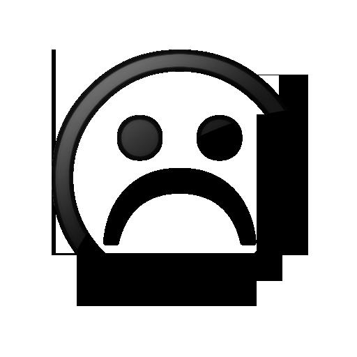 Sad Face Icon Style