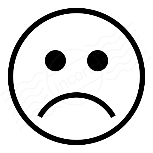 Iconexperience I Collection Emoticon Frown Icon