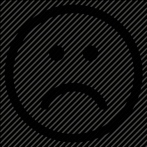 Circle, Emoji, Emoticon, Face, Round, Sad, Unhappy Icon