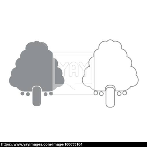 Fruit Tree It Is Black Icon Vector