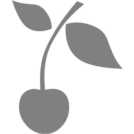 Gray Cherry Icon