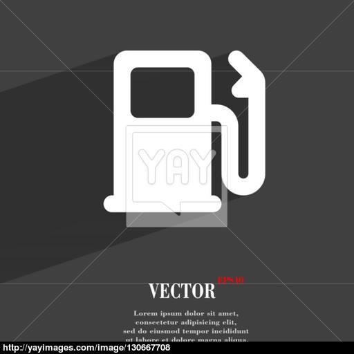 Petrol Or Gas Station, Car Fuel Icon Symbol Flat Modern Web Design