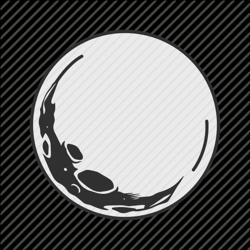 Full Moon, Halloween, Midnight, Moon Icon