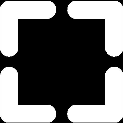 White Fullscreen Icon
