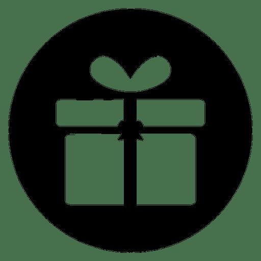 Giftbox Round Service Icon